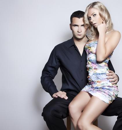 Emotive portrait of a sexy couple