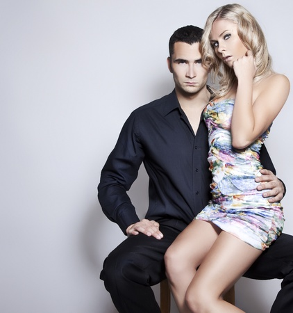 Portrait d'un couple Emotif sexy