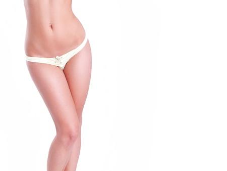 cintura perfecta: Cintura esbelta mujer aislada en blanco