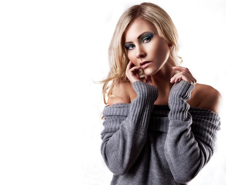 photo of a blond woman Stock Photo