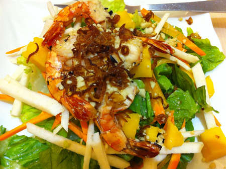 cravings: Mango prawn salad one of my cravings when i was 5 month pregnant.
