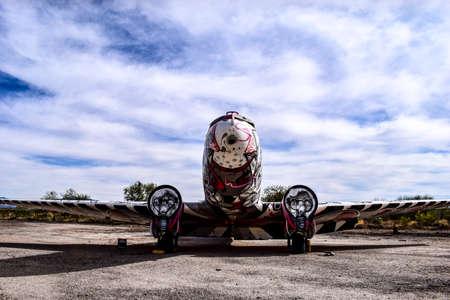 Tucson, Arizona, USA - December 27, 2016: The Bone Yard Project: Return Trip