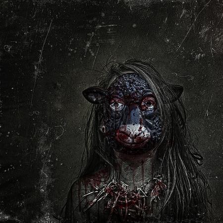 mouton noir: Brebis galeuse Banque d'images