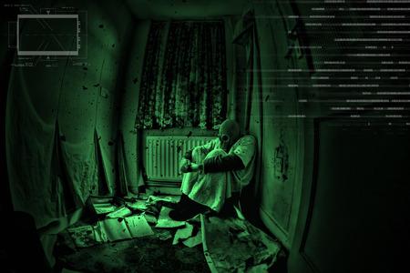 night vision: urbex night vision image