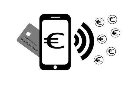 Smartphone wireless payment xredit card money