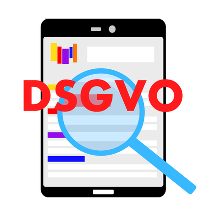 Check if this homepage is also DSGVO compliant  イラスト・ベクター素材