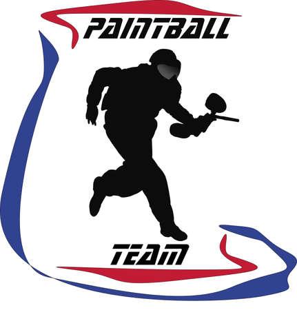 Embleem van Paintball Vector Illustratie