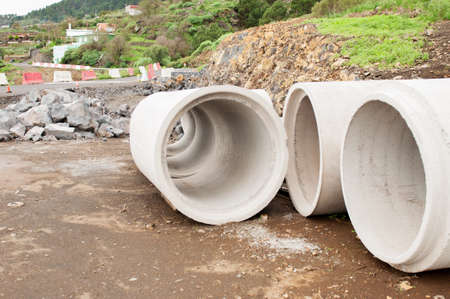 Cement pipes for construction sanitation