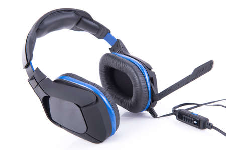 gaming: Gaming Headset with microphone on white background Stock Photo