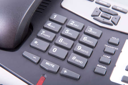alphanumeric: Alphanumeric keyboard of a landline that is hung