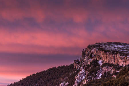 winter sunrise: Early winter sunrise Stock Photo