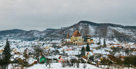 Romanian old village - Biertan Stock Photo