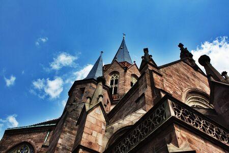 karlsruhe: Church in Karlsruhe, Germany  Stock Photo