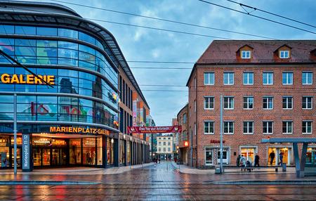 Deutsche Bank at Marienplatz in the old town of Schwerin. Mecklenburg-Vorpommern, Germany
