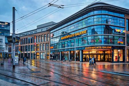 DM at Marienplatz in the old town of Schwerin. Mecklenburg-Vorpommern, Germany Editorial