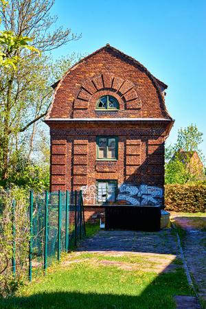 Old brick house in Schwerin.