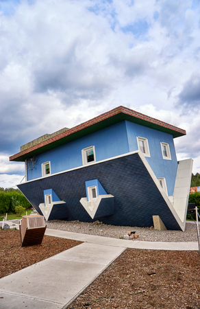 House on the head. Usedom Island in Mecklenburg-Vorpommern Germany.