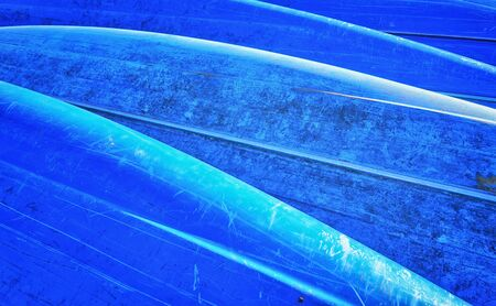 Blue boat hull as a background.