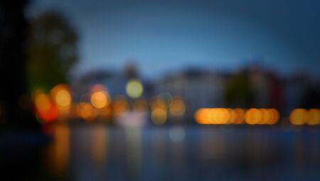 Beautiful blurred colorful lights as a horizontal background. 版權商用圖片
