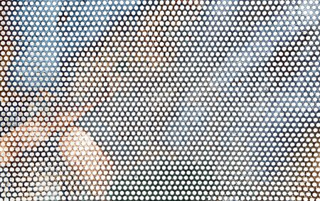 Perforated metal sheet as background.
