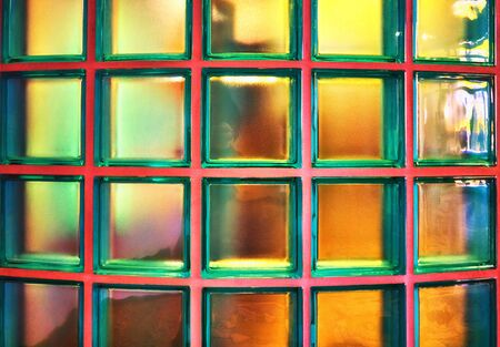 Glass blocks wall as abstract background.