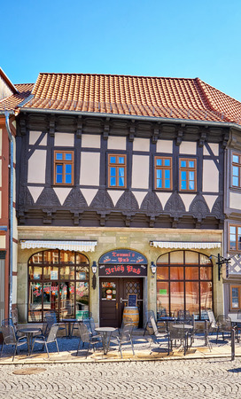 Irish pub. A bar in an old historic house in Wernigerode. Germany