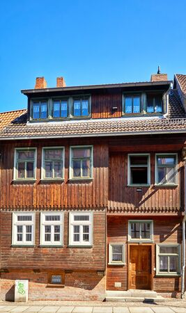 Wooden house in the old town of Wernigerode. Saxony-Anhalt, Germany 版權商用圖片