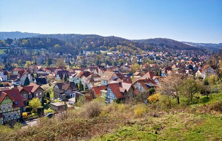 Historic half-timbered houses of the city of Wernigerode. Saxony-Anhalt, Germany