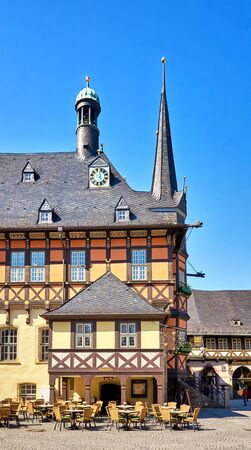 Tourist Information in an old historic half-timbered house in Wernigerode. Germany