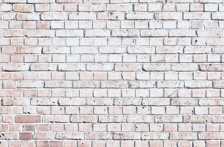 Old white brick wall background. Фото со стока