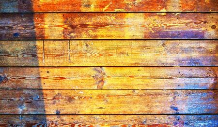 Old wood background in the sunshine.