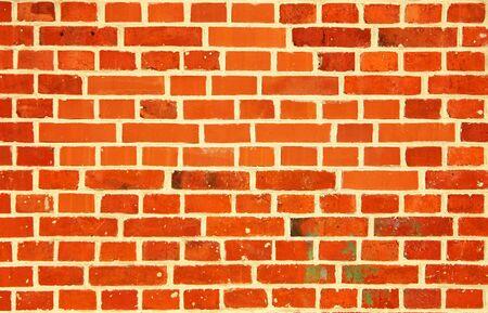 Mur de briques rouges vintage comme arrière-plan.