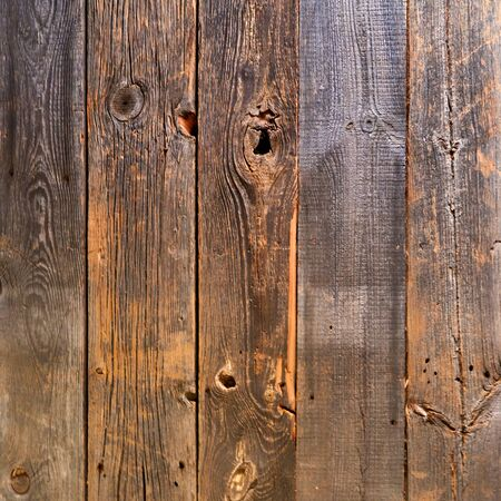Old wooden boards with knotholes as a background.