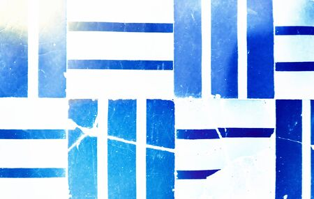 White background with abstract blue stripes. 免版税图像
