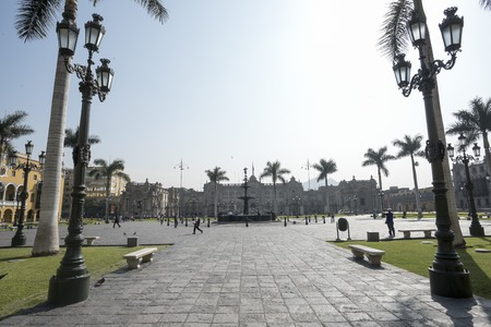 View of the Plaza Mayor of Lima. Peru, Historic city. Nice