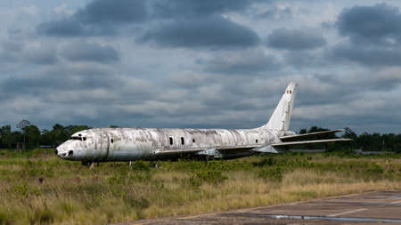 scrapped: scrapped airplane