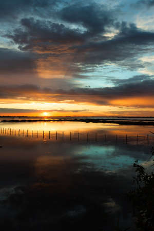 jovial: Sunset Albarella in Italy Stock Photo