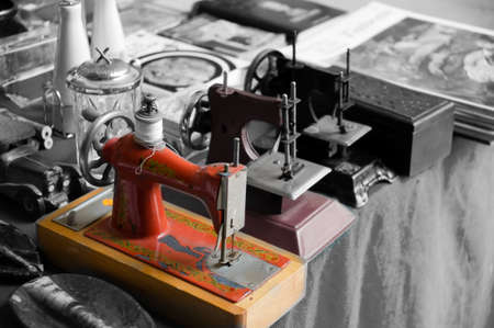 sewing machines: Antique sewing Machines Stock Photo