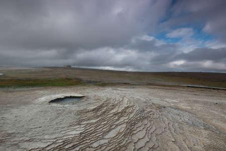 geothermal: Hveravellir geothermal hot water