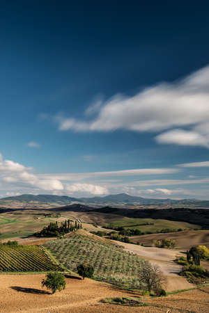 increased: Typical landscape in Tuscany from an increased field of view