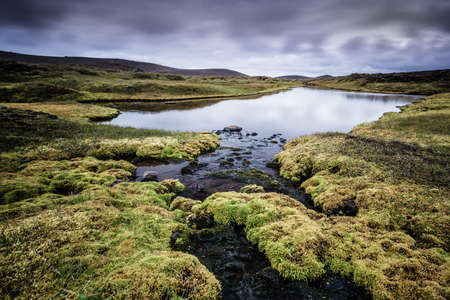 warm water: Volcanic area with warm water Stock Photo