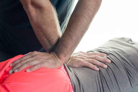 terapia ocupacional: La terapia ocupacional primer plano de la espalda Foto de archivo