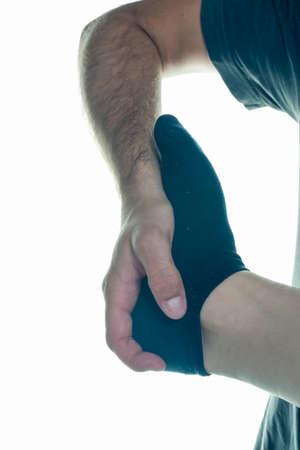 terapia ocupacional: Occupational therapy close-up foot sole Foto de archivo