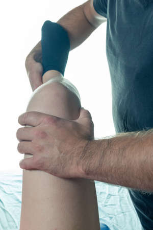 terapia ocupacional: Occupational therapy close-up knees and legs different exercises