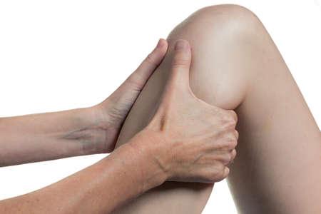 terapia ocupacional: La terapia ocupacional rodilla primer plano