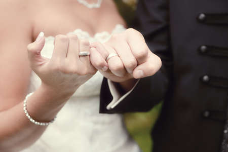 the most beaufiful day in our life - our wedding ceremony Stock Photo
