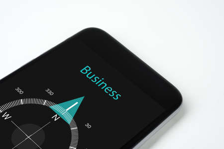 handig kompas met tekst en pijlen Business.