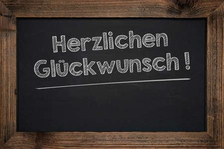 tabular: Chalkboard handwriting business success in German. Stock Photo