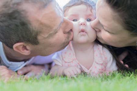Baby Schieten Pasgeboren familie bij elkaar.