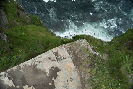 cliffs of moher ireland sea.